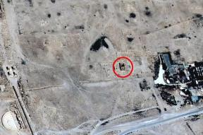 Palmyra~Satellite images confirm temple destruction by ISIS 1